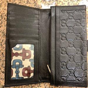 Gucci Bags - Authentic Gucci black long monogram wallet